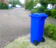 Blue bin left out on the street