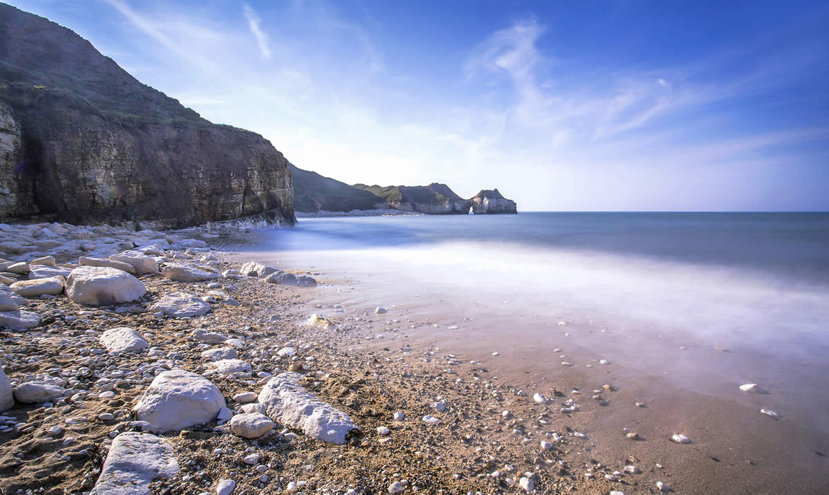 Thornwick Bay, Flamborough - Photo by Michiko Smith
