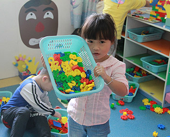 Young girl in childcare