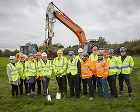 Ground breaking ceremony marks the start of work on £22million Cottingham and Orchard Park Flood Alleviation Scheme